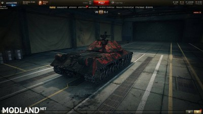 BLACK WITH RED PATTERN SKIN for IS-3 1.4 [1.4.0.1], 3 photo